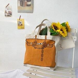 Image 3 - Youda design original impressão de moda grande capacidade bolsa estilo clássico senhoras sacola de compras casual simples feminino