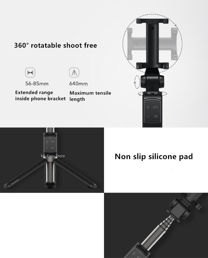 Original Huawei Honor AF15Pro Bluetooth Selfie Stick Tripod Portable Wireless Control Monopod Handheld for iOSXiaomi Phone (1)