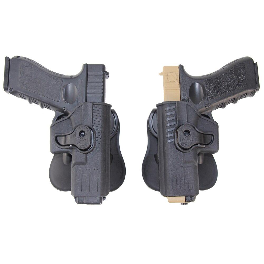 Pistolera táctica de combate con pistolera IMI Glock para mano derecha para Glock 17 18 19 22 23 26 32 43 funda Airsoft