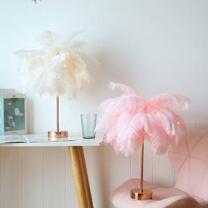 Table-Lamp Shades Desk-Night-Light-Decor Room-Decoration Bedside Pink Elegant White Modern