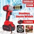 28000mAh 530Nm Cordless Elektrische Schlüssel 1/2'' Schlagschrauber Power Fahrer Schlüssel Buchse Tools set w/1 akku-in Elektrische Schraubenschlüssel aus Werkzeug bei