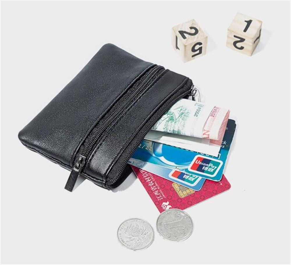 Women Men Leather Wallet zip Leather Coin Purse Card Holder Wallet Handbag Bags