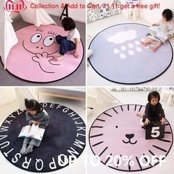 Ins infantil bebê anti-deslizamento jogar tapetes crianças dos desenhos animados tapete super macio veludo grande sala de estar crianças quarto capacho