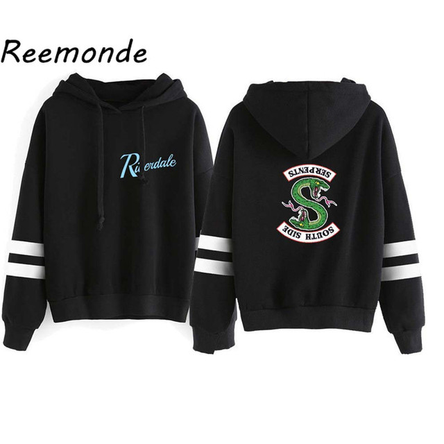 Riverdale Southside Serpents Hoodies Sweatshirts MenS Women South Side Serpents Hoodie Long Sleeve Striped Pullover Top Oversize 2
