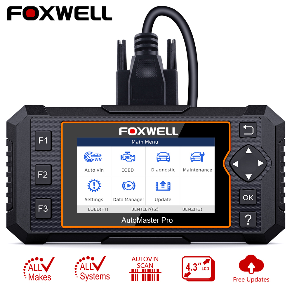 Foxwell NT624 Elite Volle System OBD2 Automotive Scanner EPB Öl Reset Auto Diagnose Werkzeug OBD 2 Code Reader Foxwell OBD2 scanner