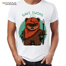 Mens T Shirt Star Wars Eco Warriors Ewoks Save The Forest Artsy Awesome Artwork Printed Tee