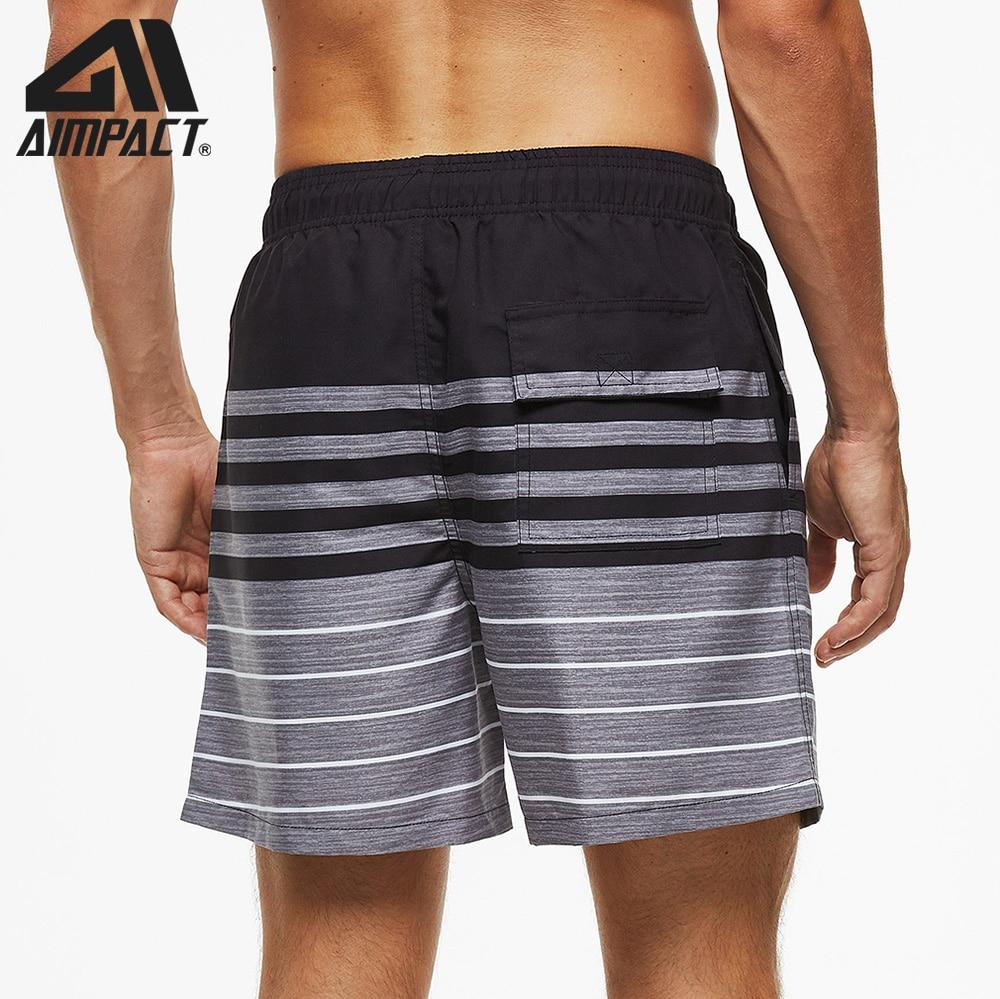 de secagem rápida calções masculinos listrado beachwear