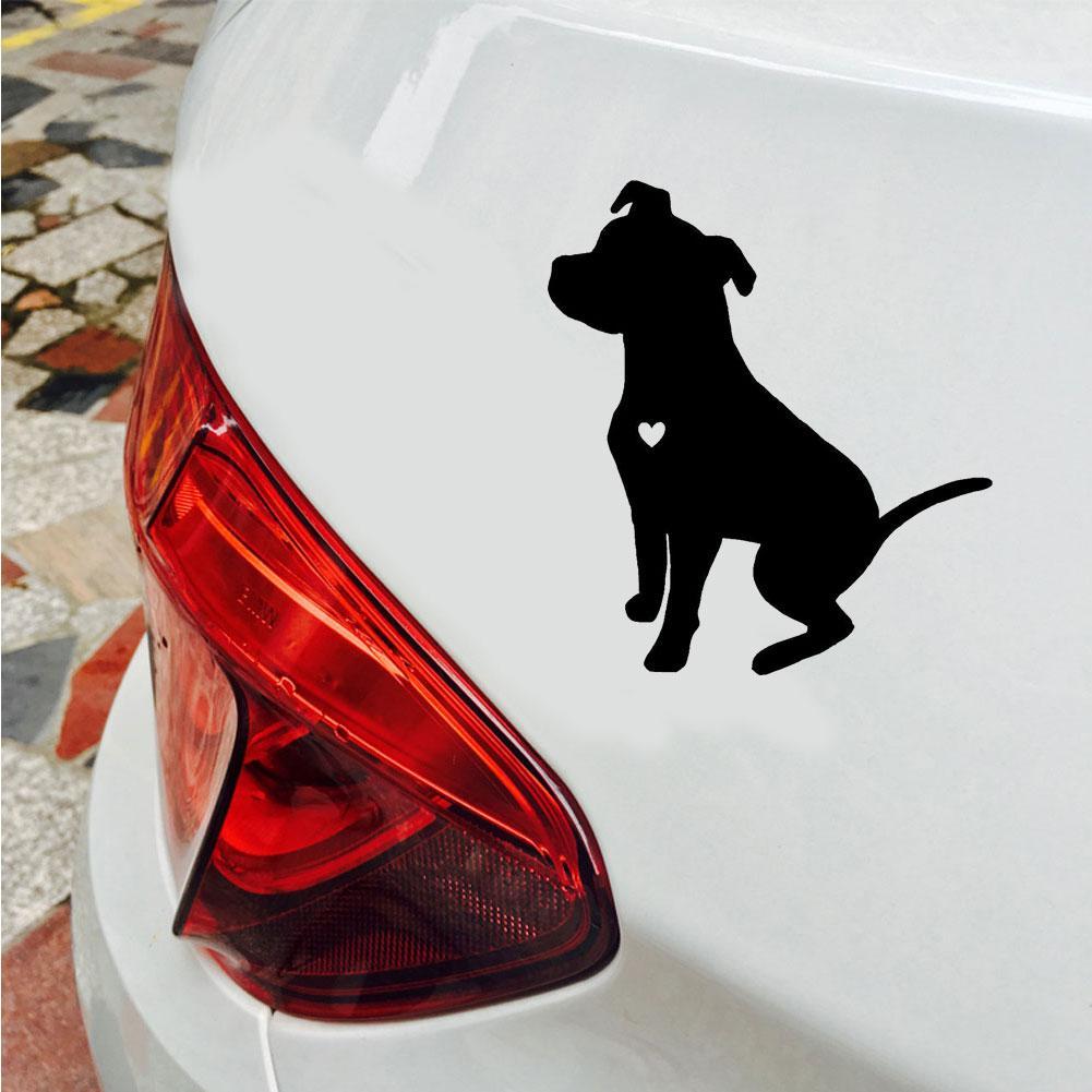 Автомобильная наклейка, милая Светоотражающая собака питбуля, наклейки на корпус автомобиля, оконные наклейки, украшение, Автонастройка, С...
