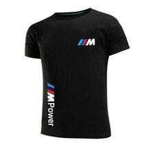 BMW 2021 M de algodón de verano de los hombres de moda Casual de manga corta de Color sólido de cuello redondo Unisex hip-hop camiseta deportes Top