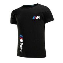 2021 BMW M Power Sommer Baumwolle männer Mode Top Casual kurzarm Einfarbig Unisex Rundhals hüfte-hop T-shirt Sport Top