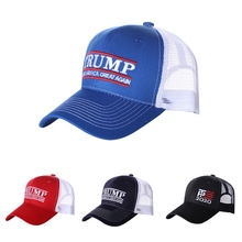 Durable Mesh Breathable Sunshade Peaked Cotton Running Hat Outdoor Baseball Cap American President Election Accessory