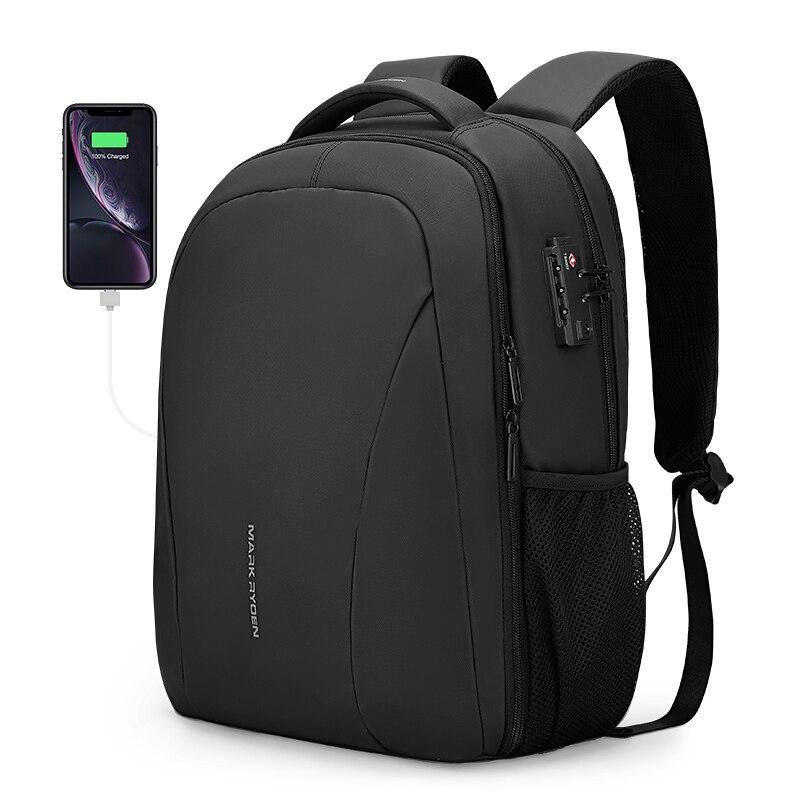 Mark Ryden 15,6 дюймов рюкзак для ноутбука без ключа TSA Противоугонный мужской рюкзак для путешествий подростковый рюкзак сумка мужской рюкзак ...