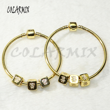 5pcs 3 cubic bangles bracelets 3 cubic beads bracelets zircon charm accessories bangles bracelets jewel for women 56275
