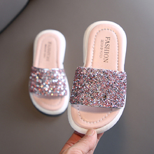 Girls Slippers Kids Shoes Summer Glitter Sequin Slippers Out