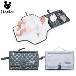 Portátil bebê mudando esteira infantil multifuncional fralda mudando almofada recém nascido 2 em 1 à prova dwaterproof água mudando almofada capa saco de armazenamento