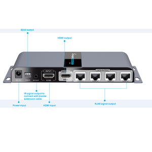 Image 2 - LKV714Pro HDMI UTP ספליטר 1X4 HDMI extender ידי cat5e/6 כבל עד 40M עם 4 מקלטי HDMI כלול + 1 HDMI לולאה החוצה