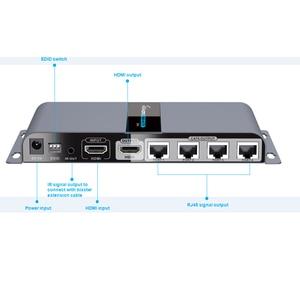 Image 2 - LKV714Pro hdmi utp スプリッタ 1X4 による hdmi エクステンダー cat5e/6 ケーブルで 40 メートルまで 4 hdmi レシーバ付属 + 1 hdmi ループアウト