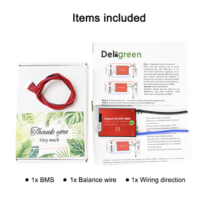 Image 5 - 6S 24V BMS 15A 20A 30A 40A 50A 60A for 3.7V lithium 18650 Li ion LiNCM Li Polymer battery pack for Scooter with balance