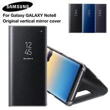 Samsung espelho capa clara vista inteligente capa de telefone para samsung galaxy note 8 n9500 note8 n950f SM-N950F rouse fino caso da aleta
