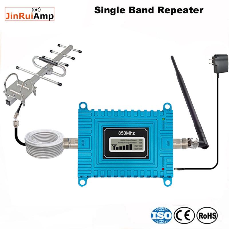 lcd Mobile phone 3G GSM /CDMA <font><b>850</b></font> <font><b>Mhz</b></font> 17dBm 850MHz Repeater Booster Cell phone Mobile Signal Repeater Amplifier <font><b>Repetidor</b></font> image