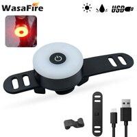 WasaFire-Miniluz trasera para bicicleta, lámpara de seguridad para ciclismo de montaña, recargable vía USB