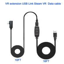 Câble de casque USB pour Oculus Quest Link vapeur VR lunettes accessoires 8M/26FT Type A à C USB câble de données ligne dextension