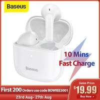 Baseus E3 TWS Wireless Earphone Bluetooth 5.0 Headphone Headset True Wireless Earbuds For iPhone 12 Pro Max Handsfree Ear Buds