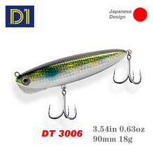 D1 Pencil Fishing Lures Slow Sinking Hard Lure Wobblers 90mm 18g Artificial Metal Hard Bait for Jigging For Bass Fishing Tackle