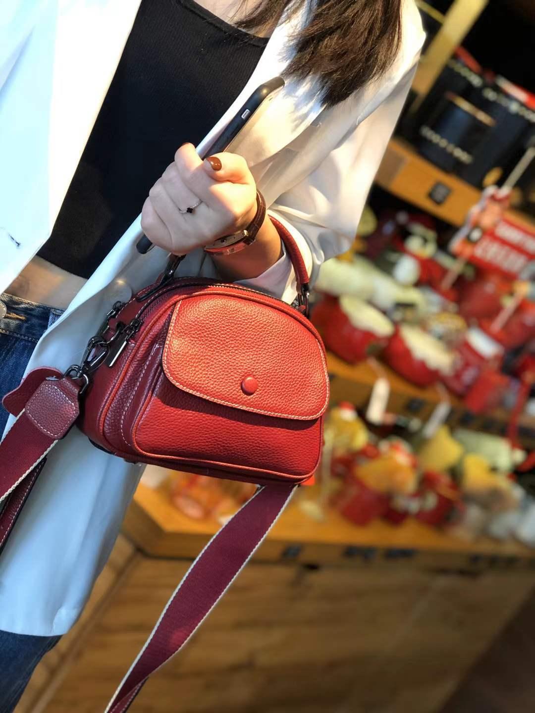 Bag Women 2021 New Leather Handbags Fashion Apple Bag Women's One-shoulder Portable Messenger Bag Double Shoulder Strap