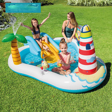 Summer Children's Water Slide Inflatables For Kids Backyard Water Park Children's Slide Fun Lawn Water Slides Pools For Outdoor