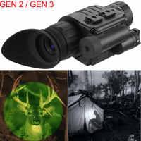 Gen 2 / Gen 3 Infrared Night Vision Monocular Hunting Trail Scope Knob Night Vision Goggles Green Imaging HD IR Camera Telescope