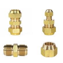 Ar condicionado tubo de cobre comum latão fiting refrigerar redutores de cobre frigorífico adaptador comum rápida