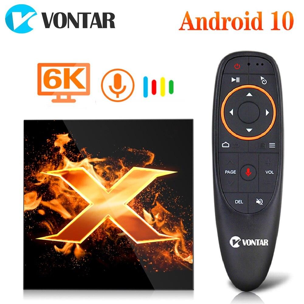 Vontar x1 caixa de tv andriod 10 tvbox 4gb 64gb 2.4g & 5g wifi ac 6k google assistente de voz 60fps bt5.0 youtube media player