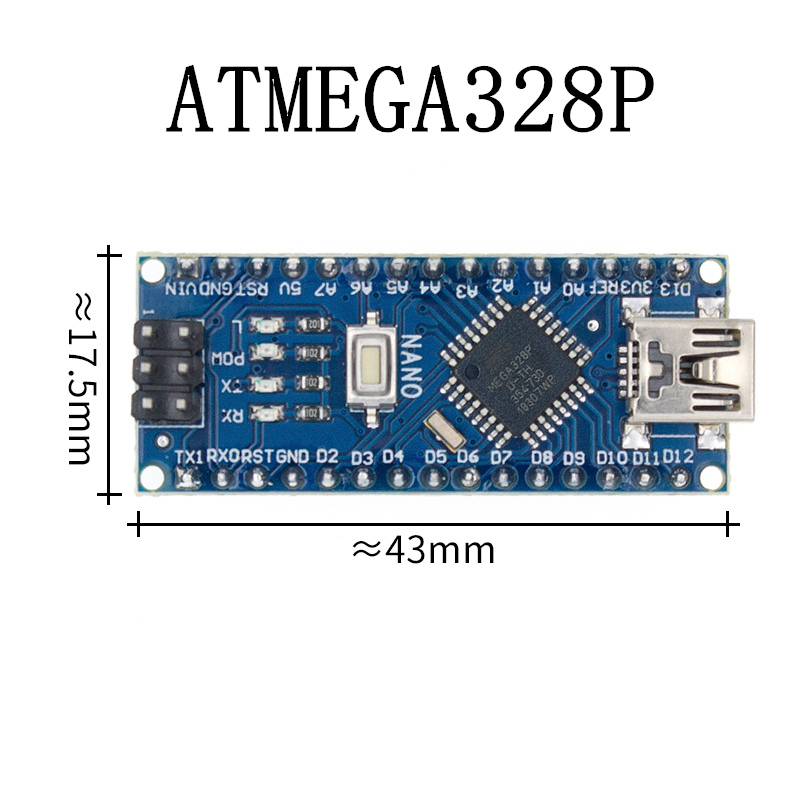 Nano с Загрузчиком совместимый Nano 3,0 контроллер для arduino CH340 USB драйвер 16 МГц Nano v3.0 ATMEGA328P/168 P - Цвет: Blue-welded-328