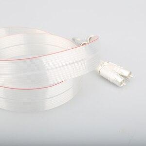 Image 2 - عالية الجودة SR 02 RCA مع الفضة مطلي سدادة RCA ربط كابل مكبر الصوت
