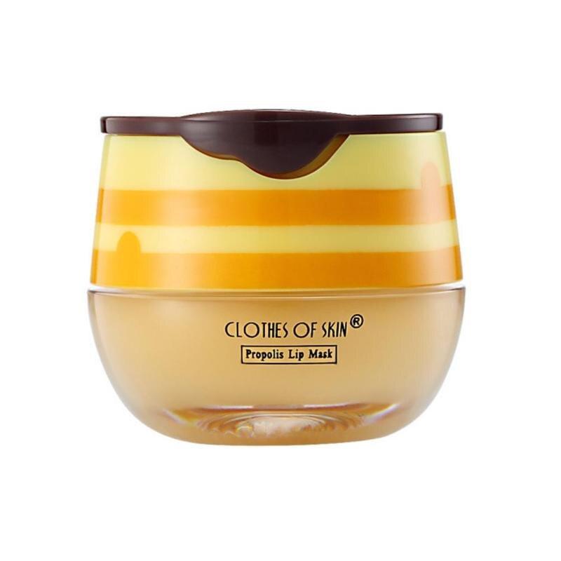 New Propolis Moisturizing Lip Mask Sleep Lip Balm Nourishing Anti-wrinkle Lip Care Anti-cracking Unisex Lip Mask With Brush 45g