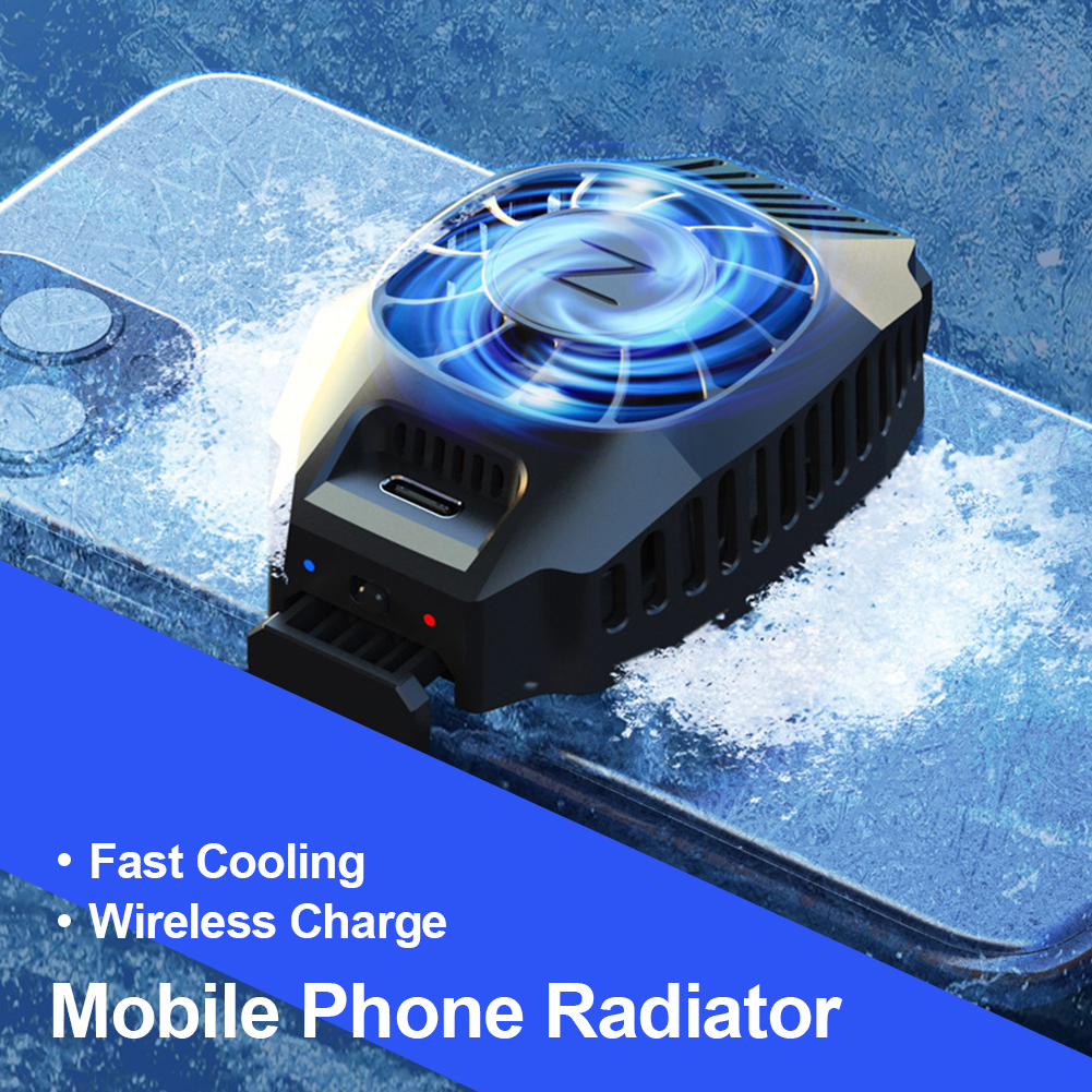 Universal TYPE-C USB Game Cooling Fan for Mobile Phone Smartphone Holder Radiator For iphone Xiaomi Huawei Cooler Heat Sink
