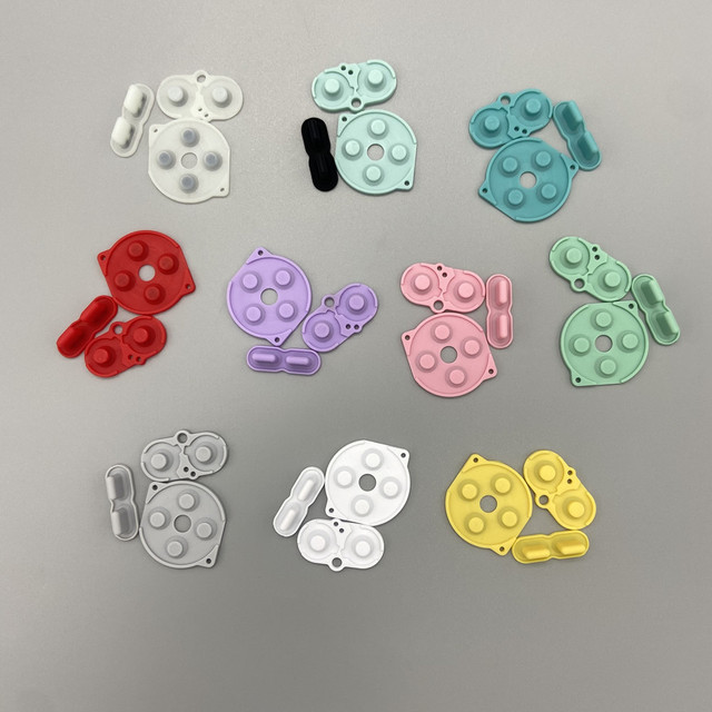 Kolor wysokiej jakości akcesoria do gier podkładki gumowe podkładki silikonowe do Gameboy Pocket GBP