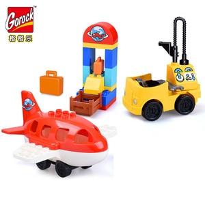Image 5 - Blocos de construção de tijolos, compatível com duploed, casa para família, blocos de construção, diy, brinquedo de tijolos para crianças