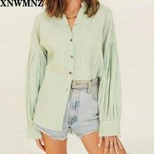 Женская блузка с длинным рукавом za зеленая Повседневная офисная