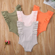 Pudcoco Baby Summer Clothing Newborn Baby Boy Girl Unisex Cotton Jumpsuit Bodysuit