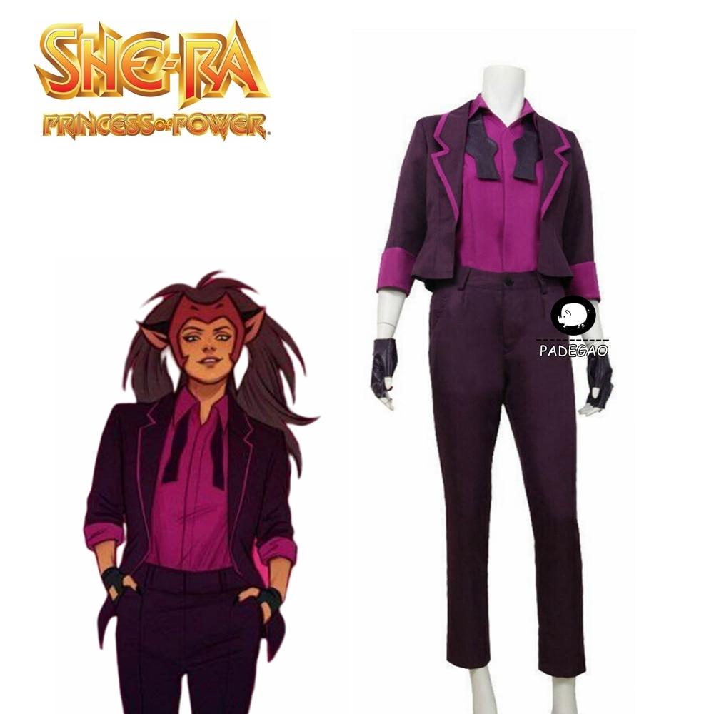 She-Ra And The Princesses Of Power Catra Cosplay Costume Uniform Halloween Christmas