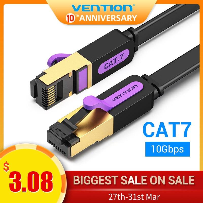 Vention Ethernet Cable RJ 45 Cat7 Lan Cable STP Network Cable 1M 2M 3m 5m 8m 10m 15M Patch Cord Cable For PC Router Laptop Cat 7