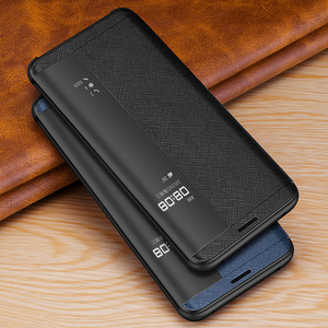 Image 1 - Vintage Cross Genuine Leather Case For Huawei Mate 20 RS Porsche Design Thin Smart Awake Sleep Flip Case Cover Mate 20 Pro X RS