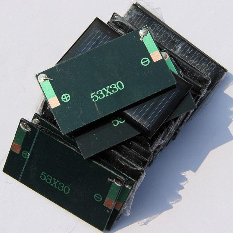 Mini 5V 1,25 W Sistema de módulo de energía de Panel Solar para luces eléctricas cargador DIY suministros para el jardín y hogar Plegable 20W USB Panel Solar portátil plegable impermeable cargador de Panel Solar cargador de batería móvil