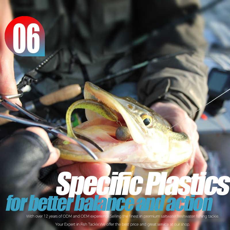 BEARKING Ez שיינר 5cm 7.5cm 10cm Wobblers עבור חם קרפיון דיג רך פתיונות סיליקון מלאכותי כפול צבע פיתיונות