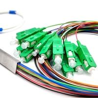 FTTH PLC Splitter 1X16 SC/APC SM 0.9mm G657A1 1m PVC Fiber Optic Splitter