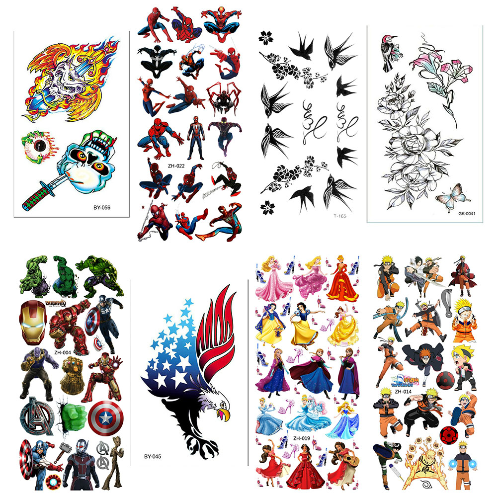 Water Tattoo Body For Kids Chest Girl Fake Women Sticker Sleeves Tatoo Temporales Mujer Tatu Tatto Temporary Tattoos