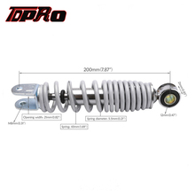 TDPRO 7.87 200mm 250lb White Rear Back Shock Suspension Absorber Fit Motorcycle 4 Stroke Mobility Scooter Pocket Mini Dirt Bike
