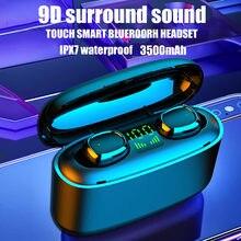 Sluchawki tws bluetooth fones de ouvido estéreo sem fio à prova dwaterproof água fone música fones para xiaomi huawei iphone